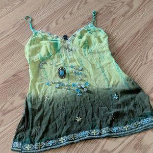 Embellished Jewel Top